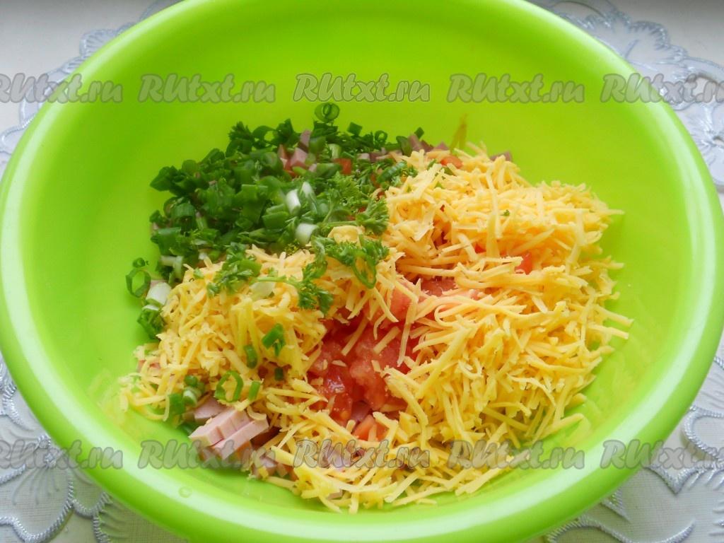 рецепт бутерброды с помидорами в духовке рецепт с фото