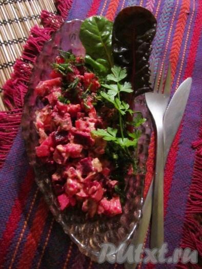 рецепты горячих салатов с фото простые