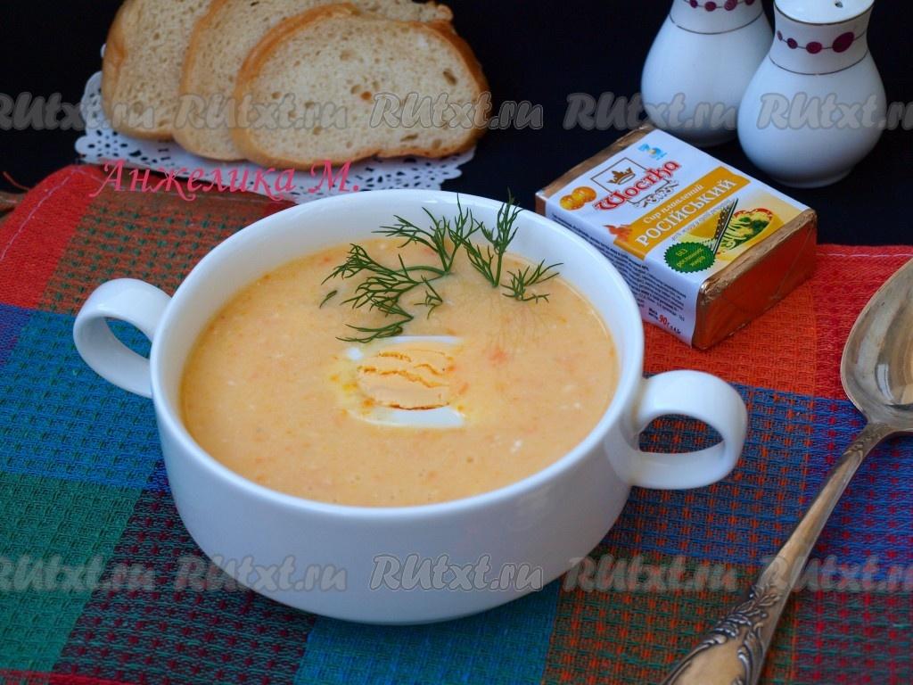 рецепт сырного супа с плавленными сырками