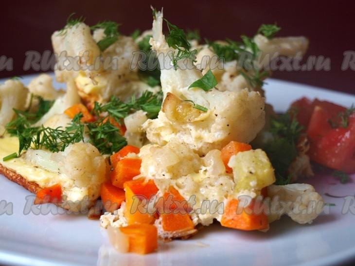 рецепты с цветной капустой и кабачками в духовке