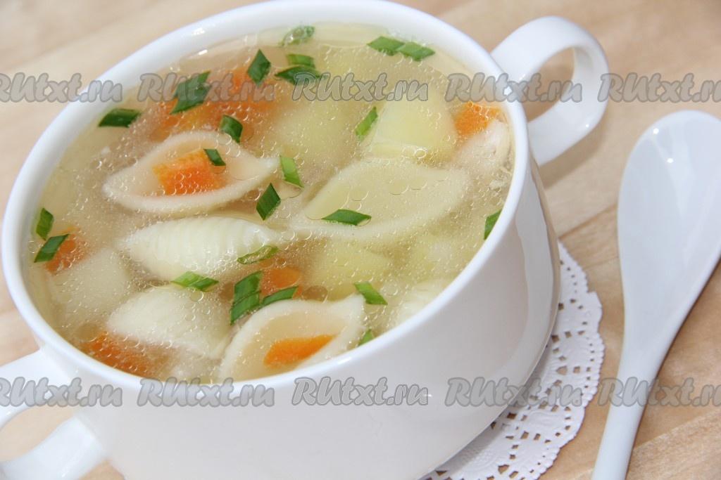 рецепт супа курица с макаронам
