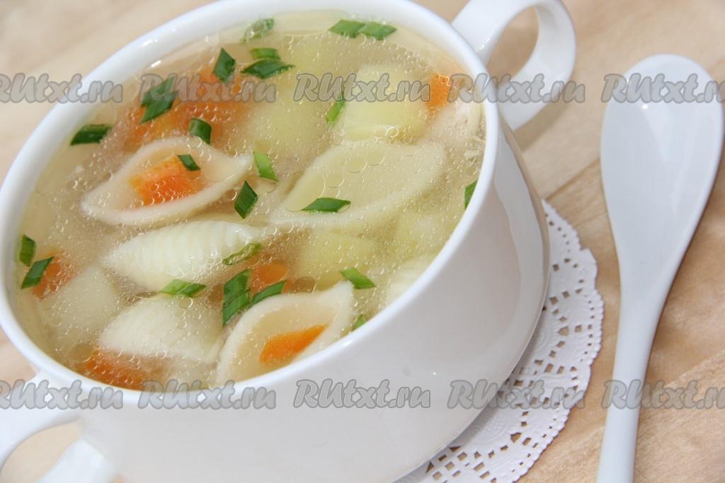 рецепт суп с макаронами и картошкой и курицей с фото