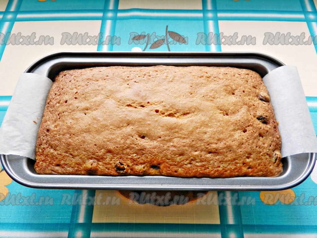 рецепт кекса без изюма в мультиварке