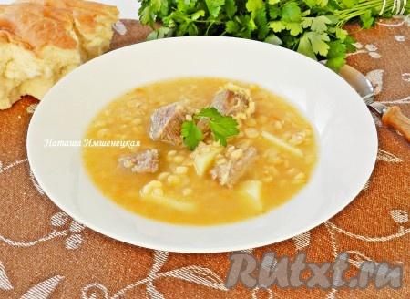 рецепт супа из ребер в мультиварке