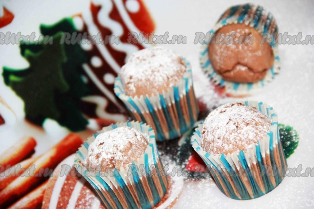кексы из какао в духовке в формочках рецепт