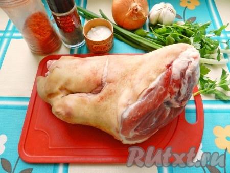 Ингредиенты для приготовления рулета из свиной рульки