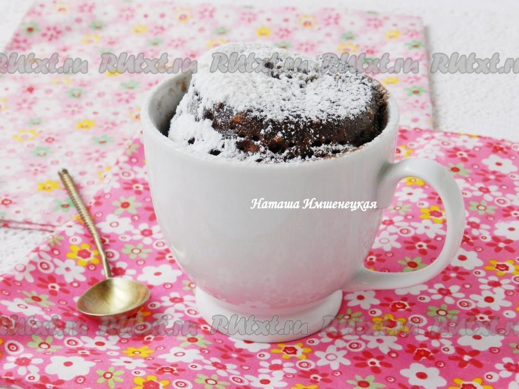 Кекс в кружке рецепт с пошагово в