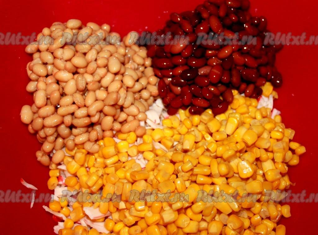 салат с кукурузой и крабовым мясом рецепт