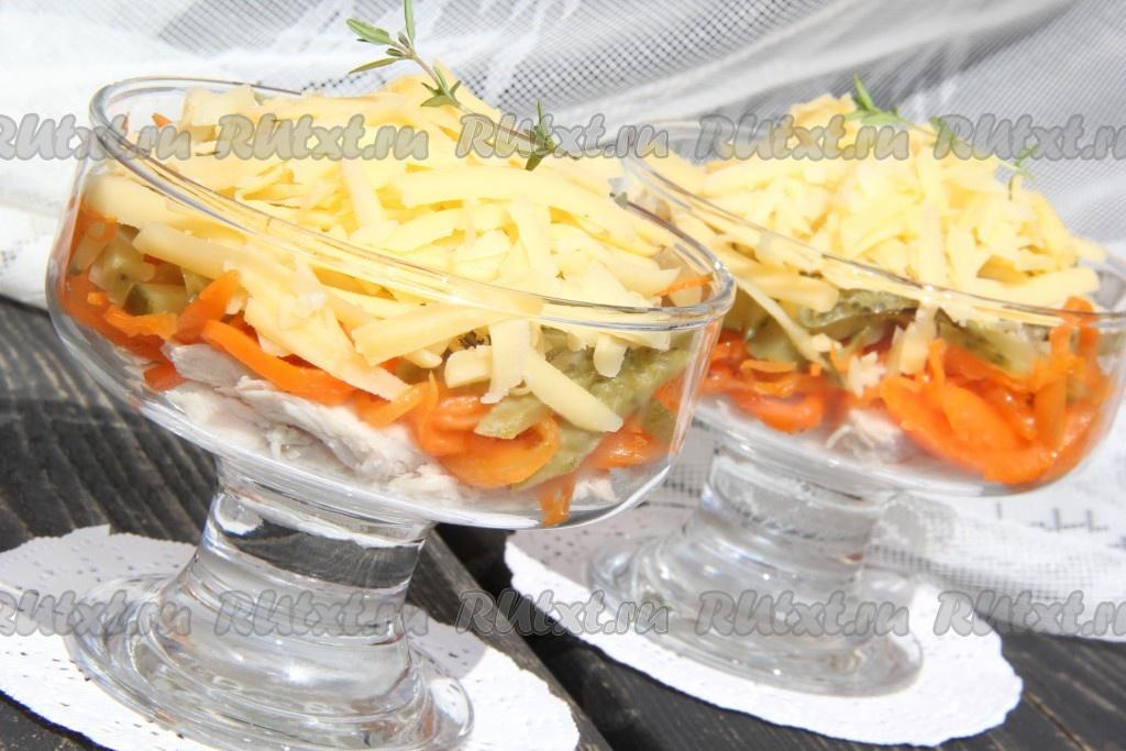 лисичка салат рецепт с фото