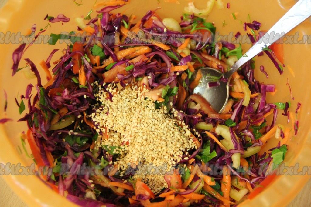 Рецепты салатов из свежей капусты с фото