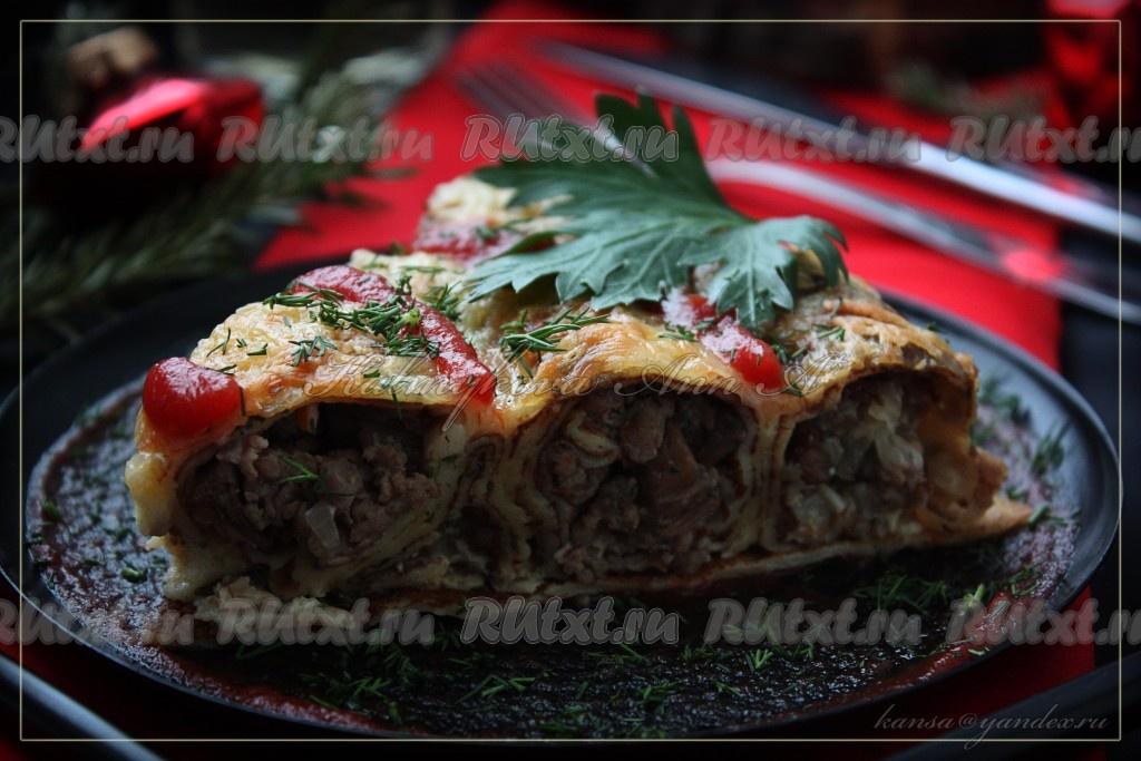 Мясо по-французски с грибами и помидорами - пошаговый ...