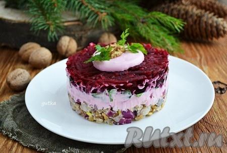 салат из сырой свеклы и орехов рецепт