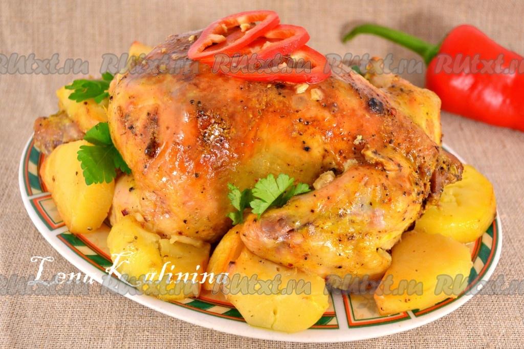 цыпленок в духовке рецепт с майонезом