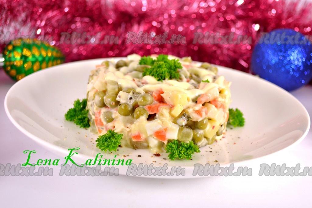 рецепт салата соленый огурец картофель