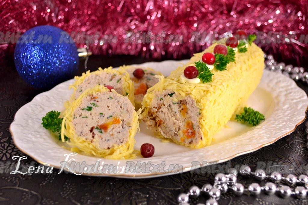рулет куриный праздничный рецепт