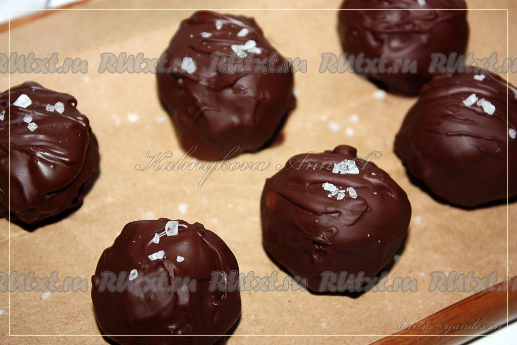 Конфеты из чернослива и орехов в шоколаде своими руками 43