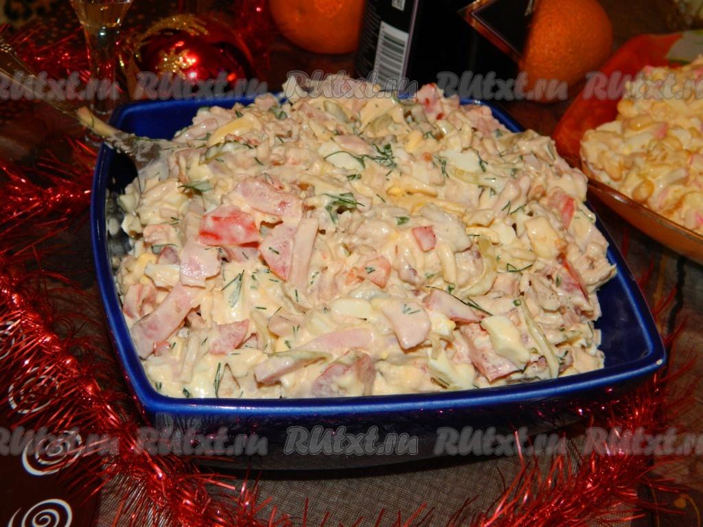 салаты рецепты с фото простые и вкусные из мяса