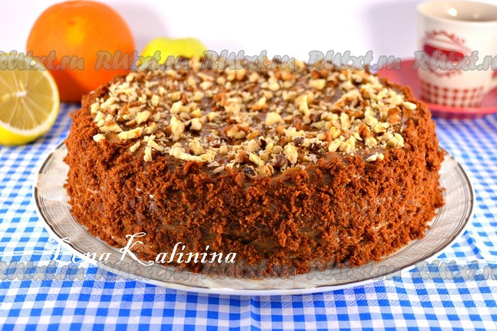 Торт рыжик в мультиварке рецепт с