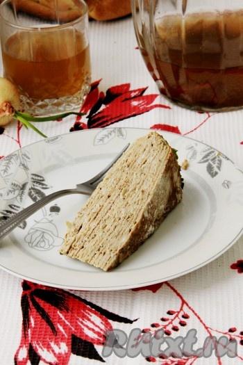 Рецепт печеночного торта с манкой
