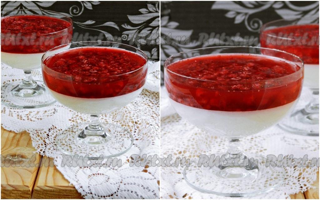 шарлотка с малиной в желе рецепт