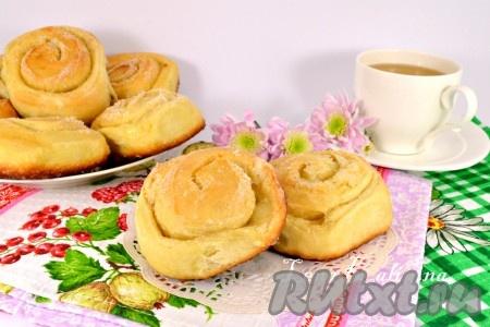 сахаром фото форма сдобных с булочек