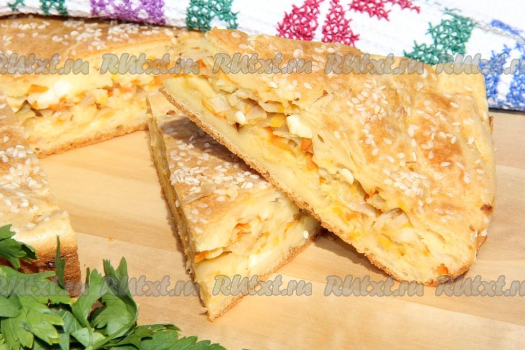 рецепт приготовления пирога с капустой и яйцом