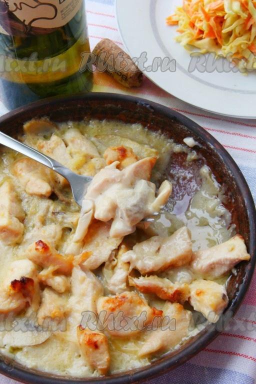 грудка в сливочном соусе в духовке рецепт