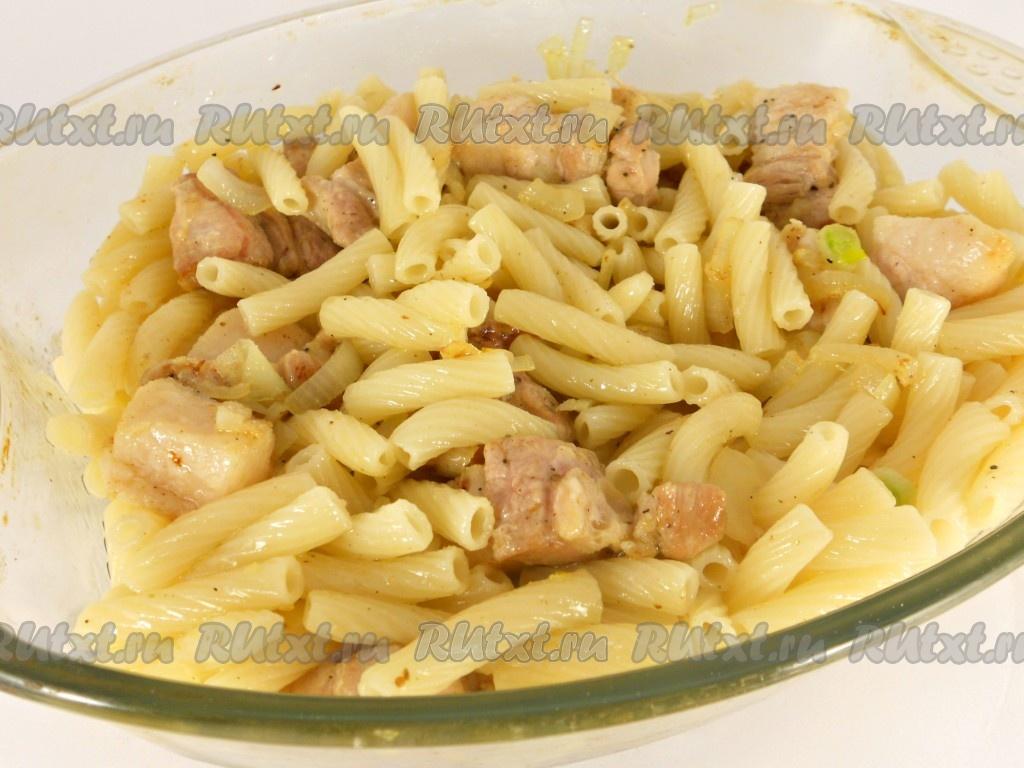 Макароны с мясом с духовке рецепт с пошагово в