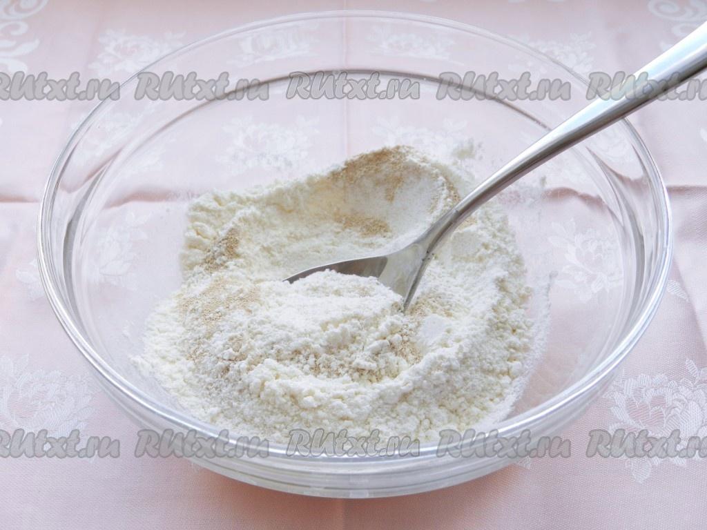 Рецепт блинов на горячем кефире с молоком