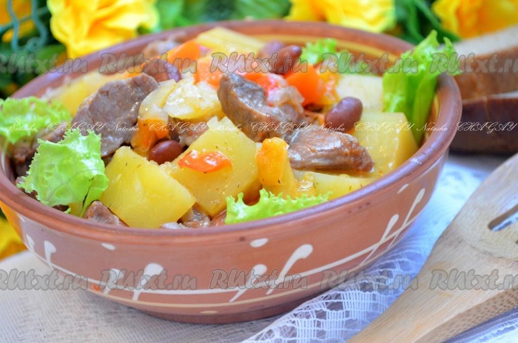 Фасоль со свининой рецепт с фото