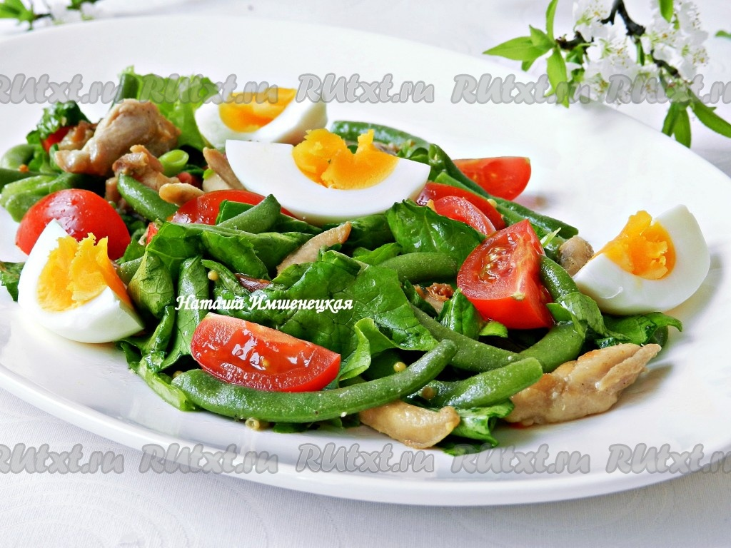 Рецепт салата из зеленой фасоли 50