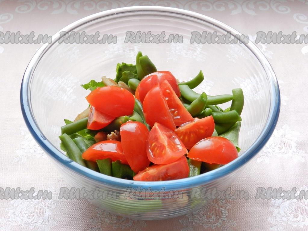 салат с зеленой фасолью рецепт с курицей
