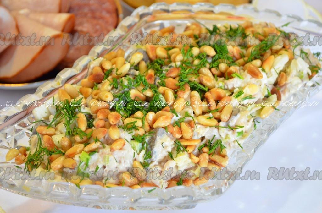 Салат с кедровыми орешками и говядиной в 2019 году