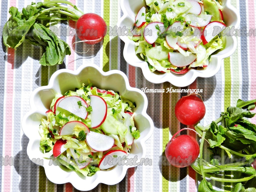 салат с капустой и сухарями рецепт с фото