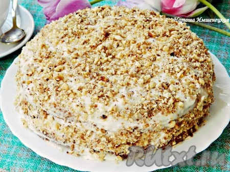 Вкусный торт из варенья готов.