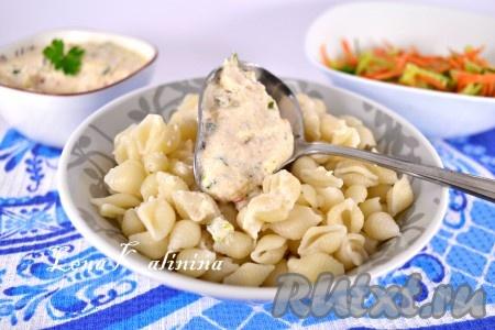 Сметанный соус спагетти рецепт фото