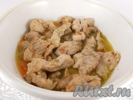 жареное мясо с луком и морковью на сковороде рецепт с фото пошагово