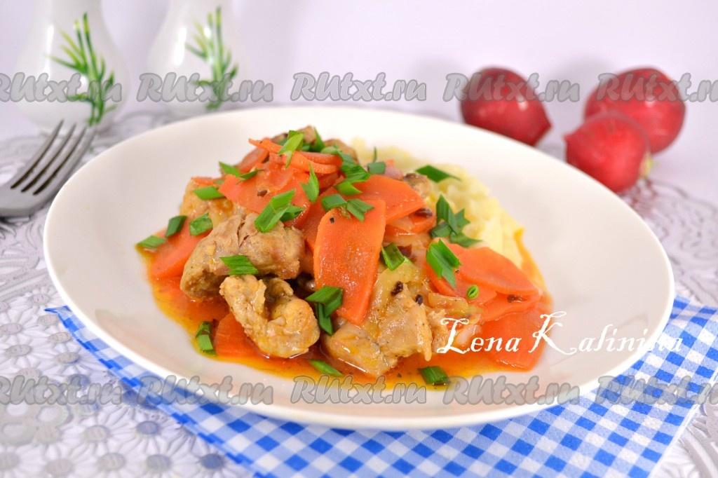 приготовить вкусно мясо в духовке с овощами рецепт