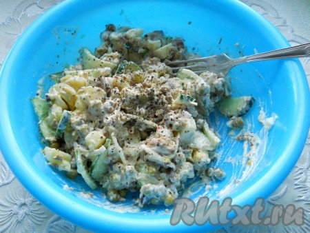 салат из рыбных консервов рецепт с фото пошагово в