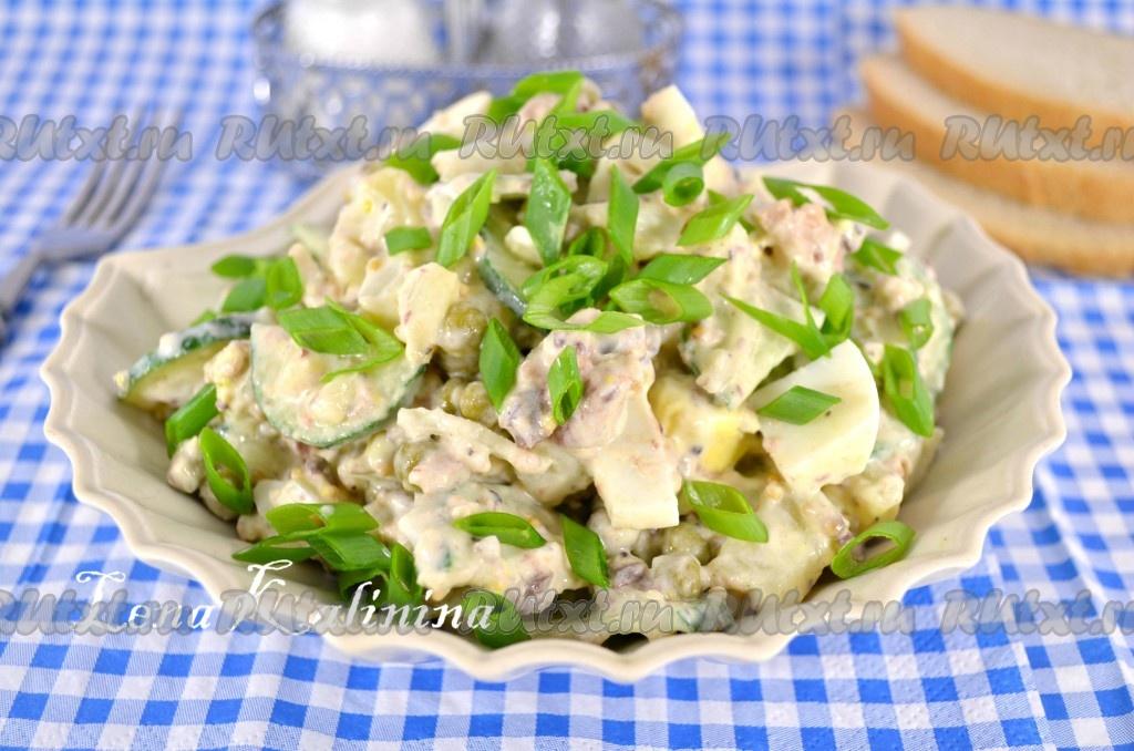 Рецепты салатов с фото с консервами