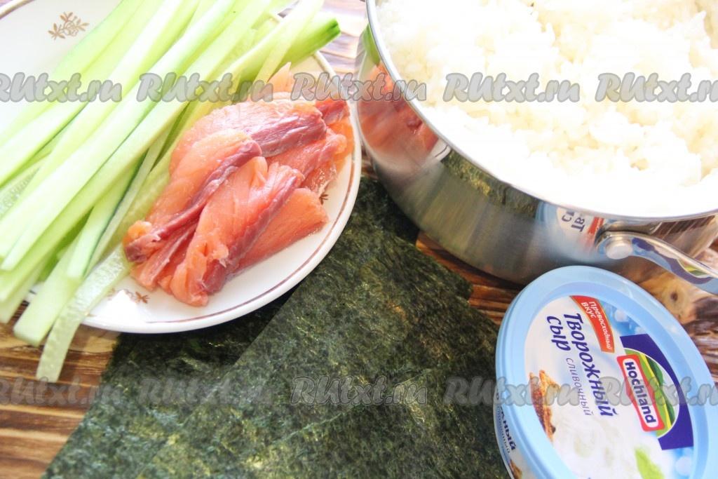 как приготовить роллы в домашних условиях с творожным сыром