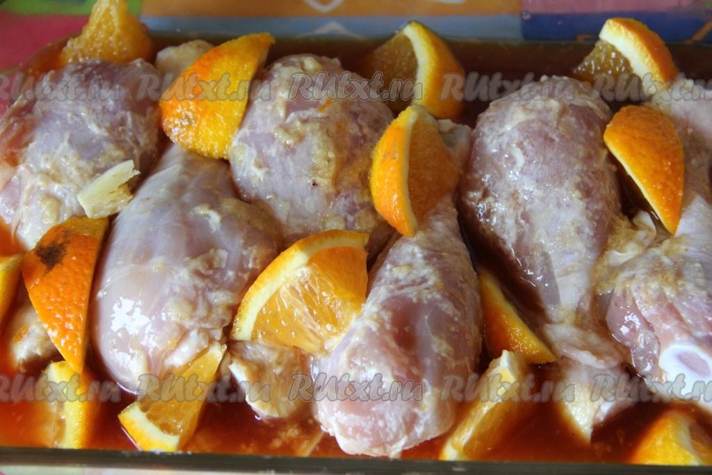рецепт куриных ножек с апельсинами в духовке