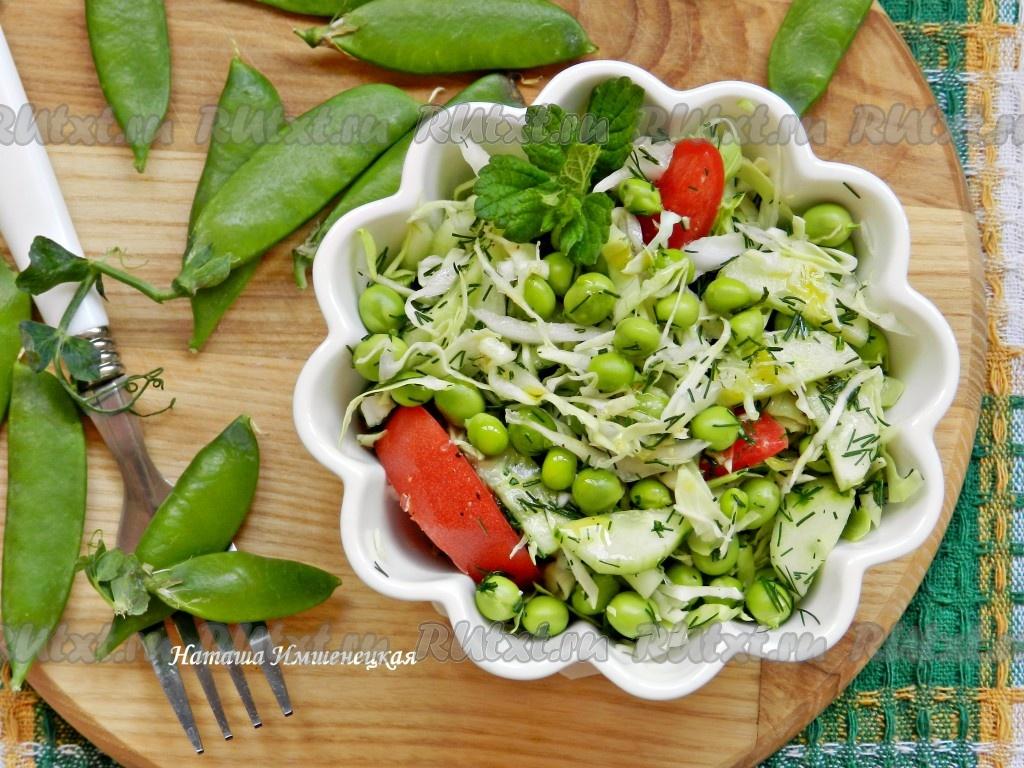 салат из капусты и горошка рецепт