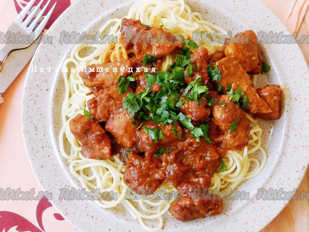 курица с томатной пастой на сковороде рецепты с фото