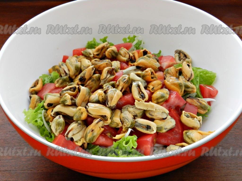 Салат из маринованных мидий рецепт с очень вкусный