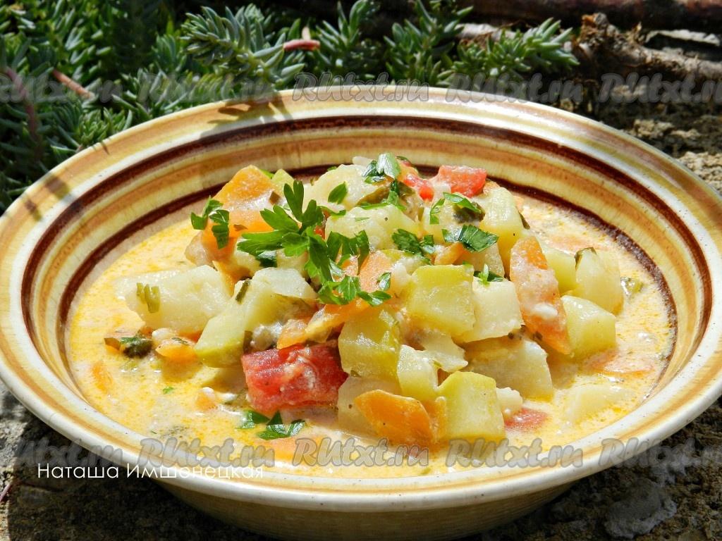 Рагу из кабачков с картошкой и капустой рецепты с фото