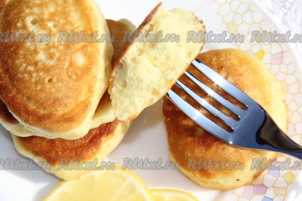 Пошаговый фото рецепт оладьев на кефире с лимоном — photo 7