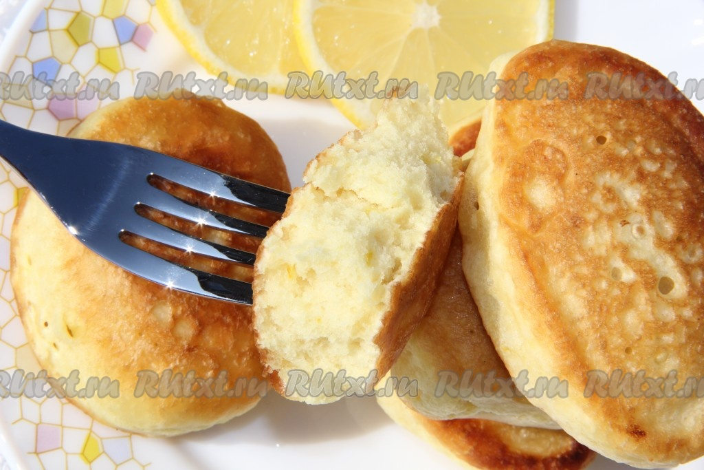 Оладьи с кефиром и бананом
