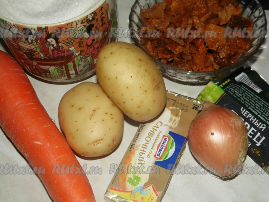 суп из лисичек с плавленным сыром рецепты с фото