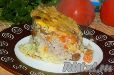 Рецепты салатов с фото фарш и грибы в духовке